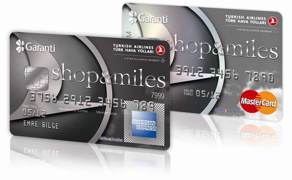 Garanti Bankası - Shop&miles kredi kartı